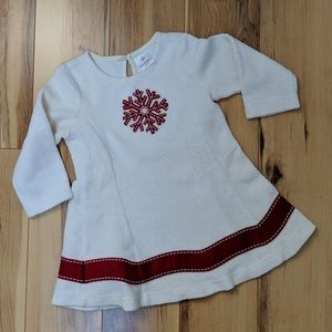 Hanna Andersson snowflake dress - size 2T (80)